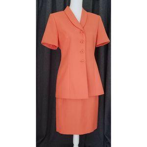 Vintage 90s Le Suit Skirt Set 2pc Sz 6